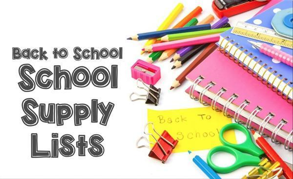 2018 - 2019 Flat Rock Elementary School Supply List