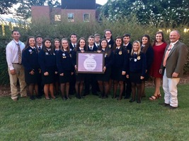 Crescent FFA chapter of Iva, SC, named 3 Star Chapter for 2018 National Chapter award by National FFA Organization