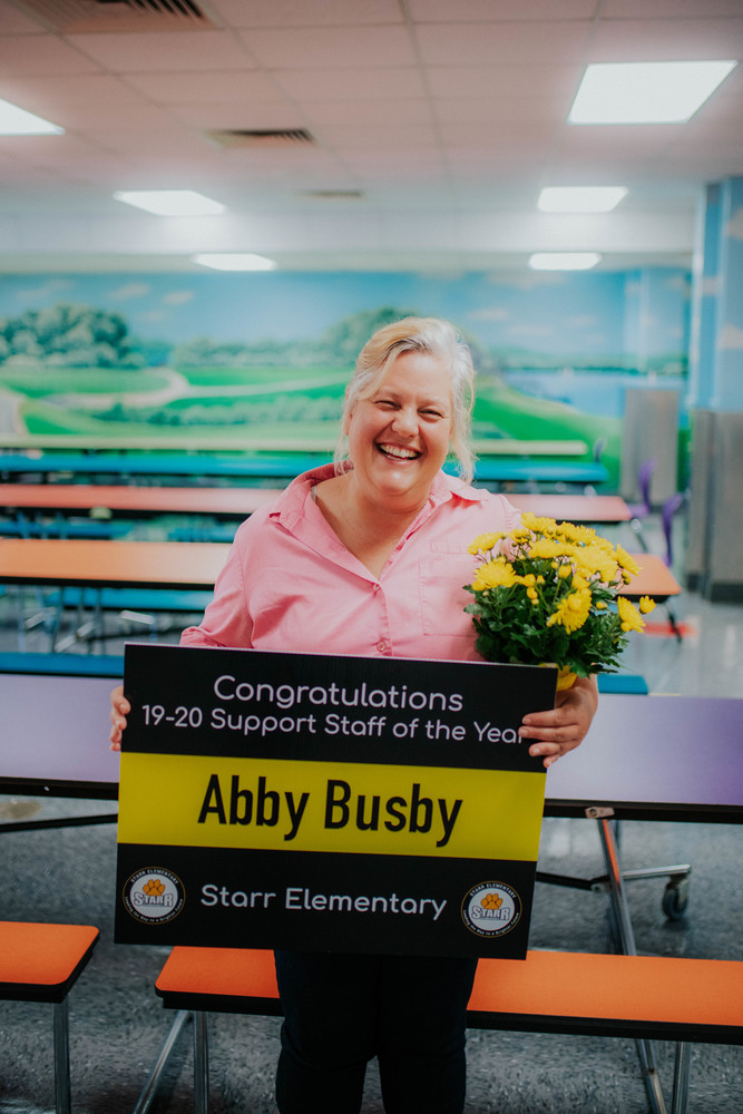 Abby Busby Named Starr Support Staff of Year!