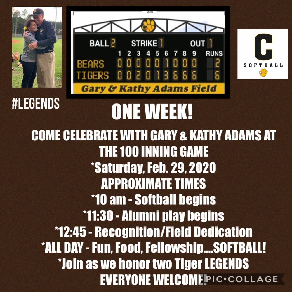 Come Celebrate with Gary and Kathy Adams/100 Inning Game