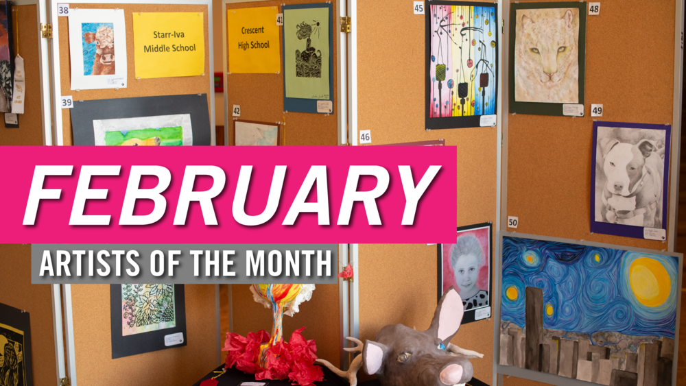 Meet our February Artists of the Month! 🎨