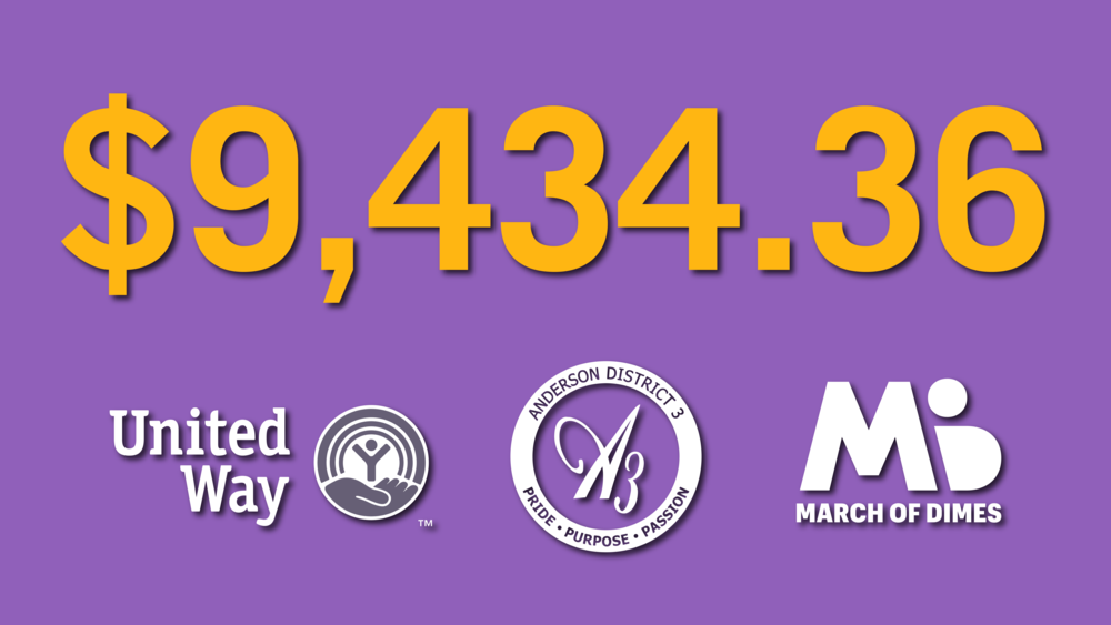 #A3Cares 2021 Campaign Totals $9,434.36 for March of Dimes and United Way 💜💰