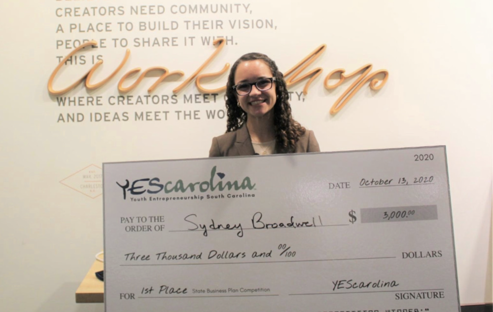 Sydney Broadwell Named #1 Young Entrepreneur in South Carolina!