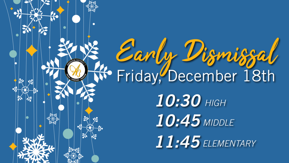 Winter Break Early Dismissal Day Announced