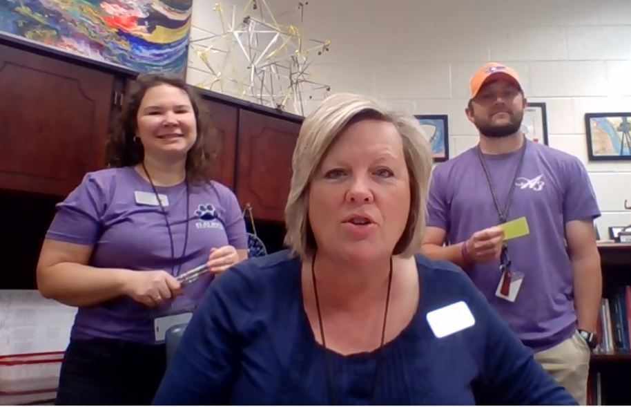 Mrs. Dodd, Mrs. Lollis and Mr. Powell share the morning announcements for Tuesday, March 31st.