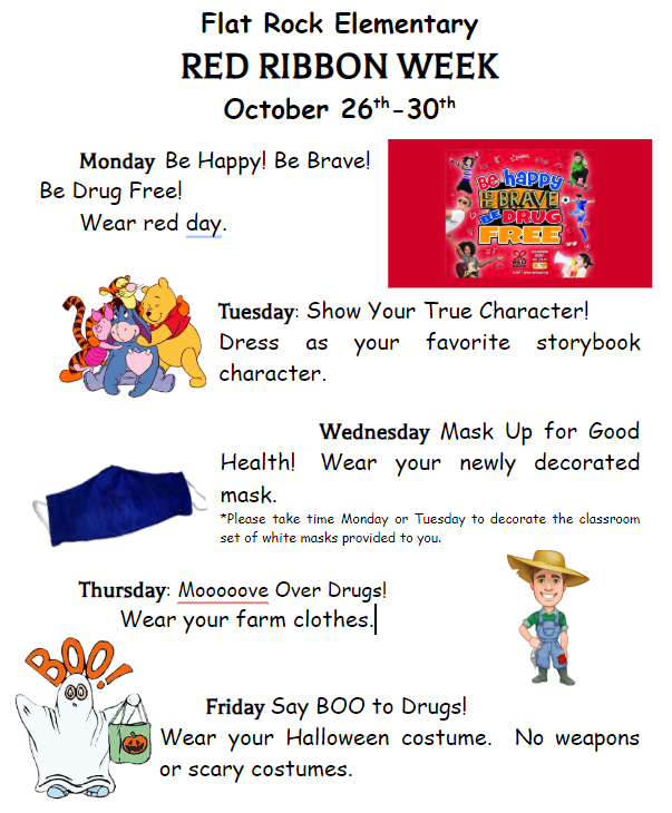 Red Ribbon Week October 26th-30th