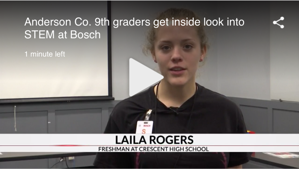 Students Participate in Bosch's Women in STEM Event