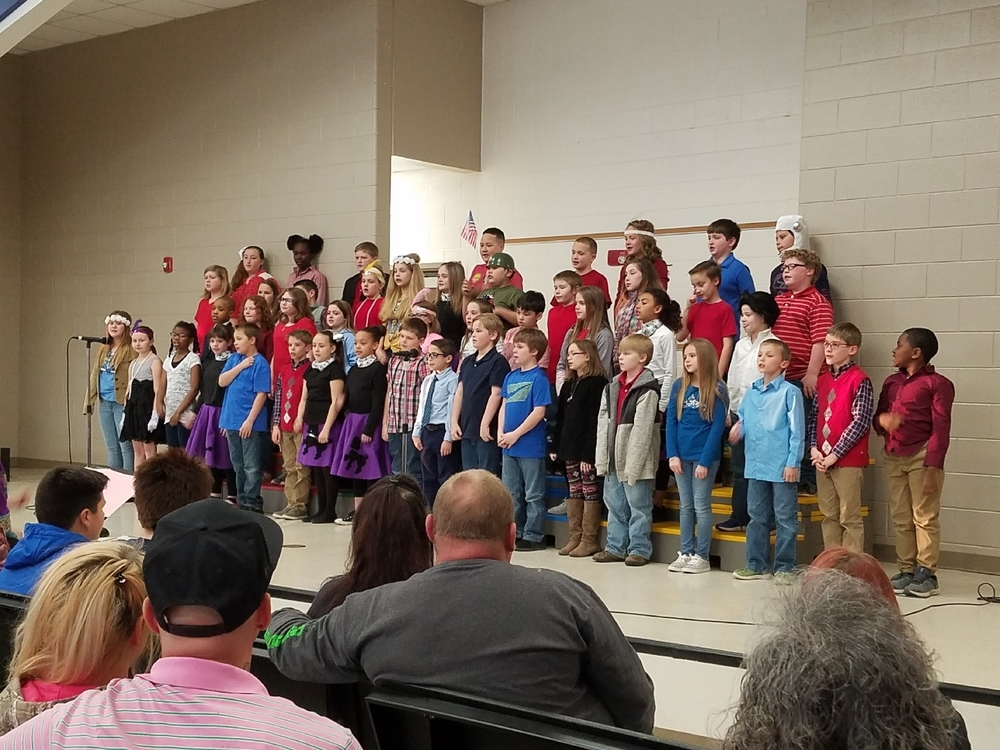 "Flat Rock 4th graders did an outstanding job in their musical, ""American Voices"""