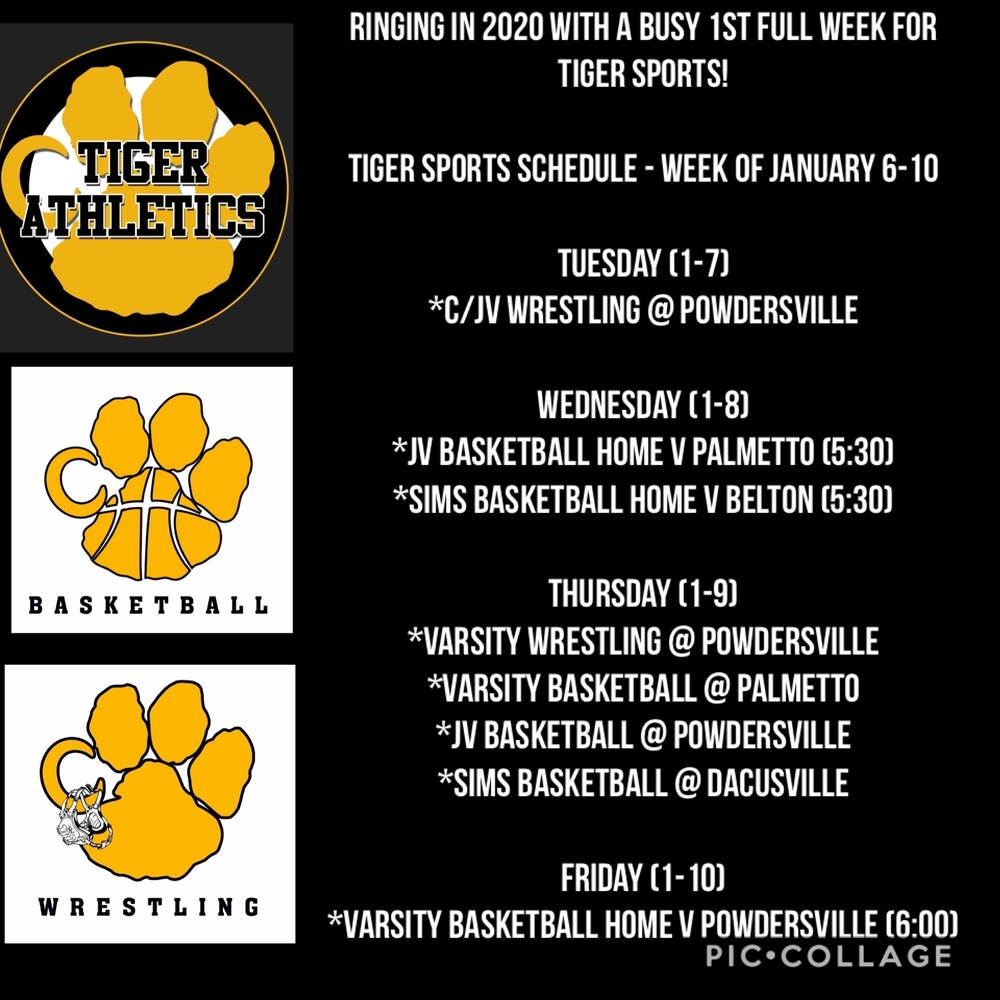 Sports Schedule - Week of January 6-10