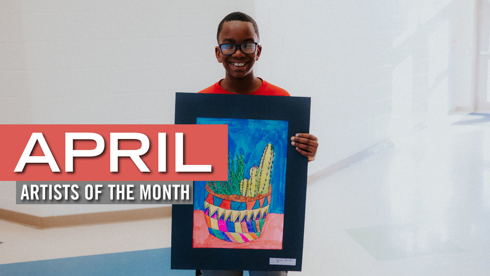 Meet our April Artists of the Month! 🎨