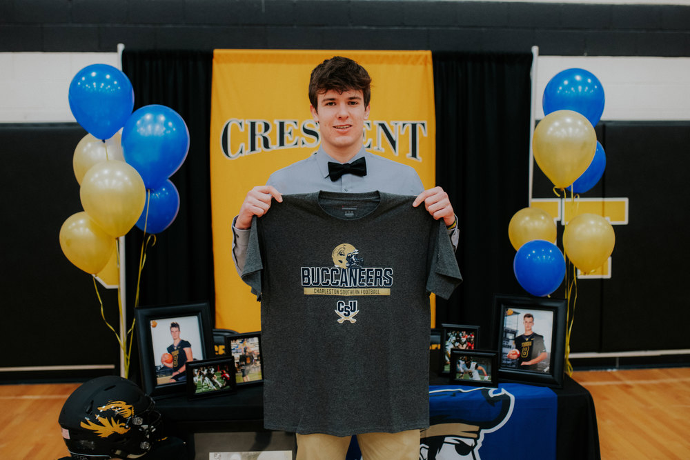 Senior Landon Sauers Signs with Charleston Southern Football
