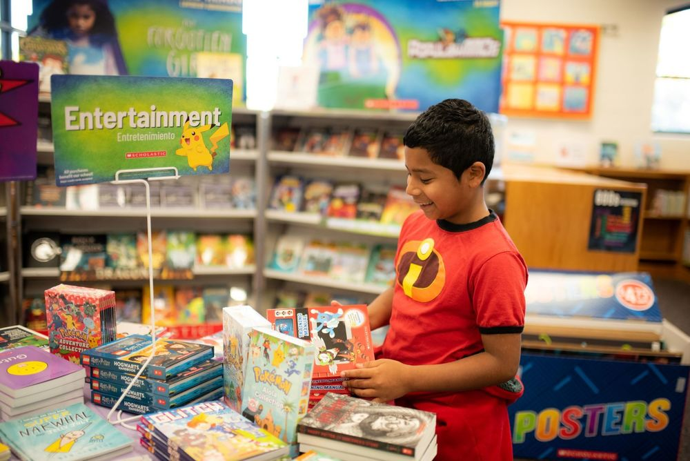 Virtual students and all families can shop our Book Fair from home!