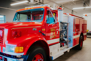 Grove Fire Department Donates Fire Engine to AIT Emergency & Fire Management Class