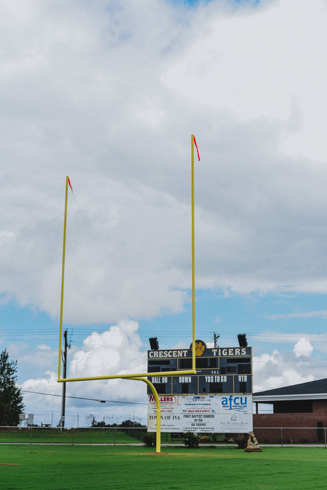 New CHS Football field goal posts installed.