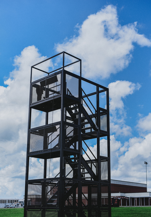 CHS Marching Band have new metal tower installed.