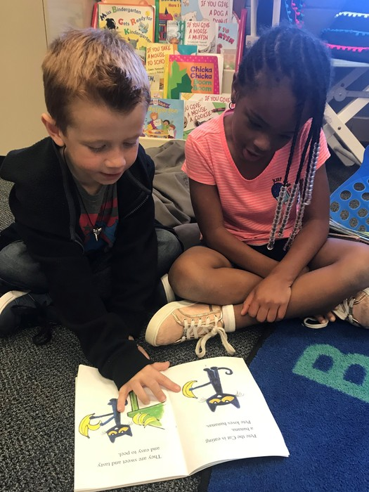 Buddy-reading at Iva Elementary