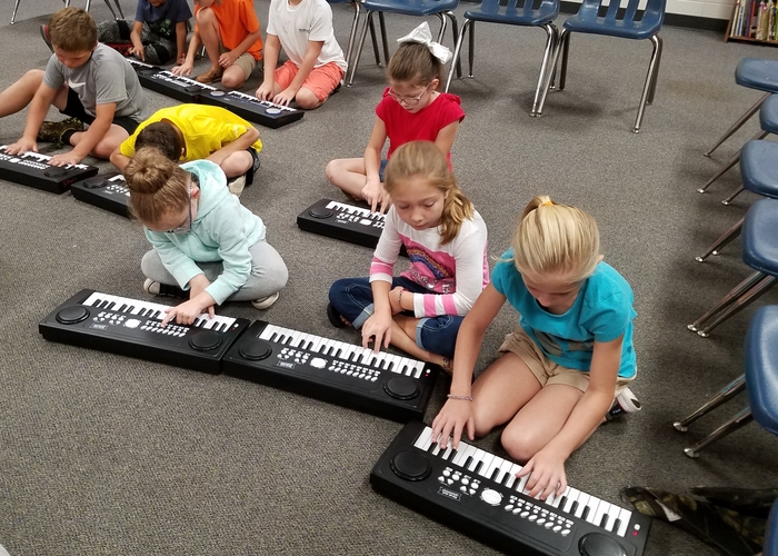 Second grade with keyboards #2