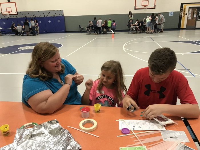 Parents and students enjoy challenges