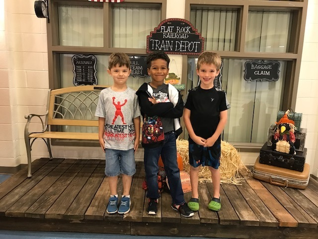 1st Grade - 1st Peyton, 2nd Dominic, 3rd Jack
