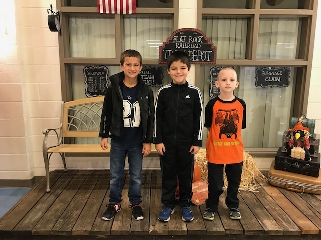 2nd Grade - 1st Richard; 2nd Curtis; 3rd Joseph