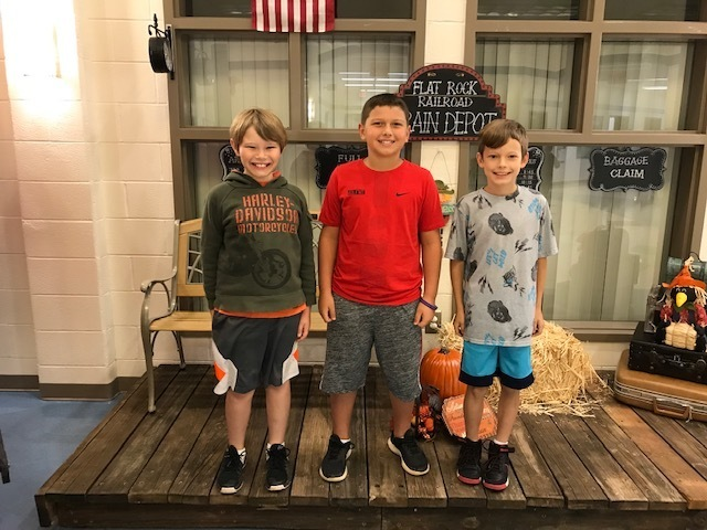 4th Grade - 1st Garren, 2nd Trace, 3rd Cameron