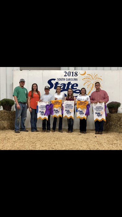Show Team members with their winnings from the SC State Fair