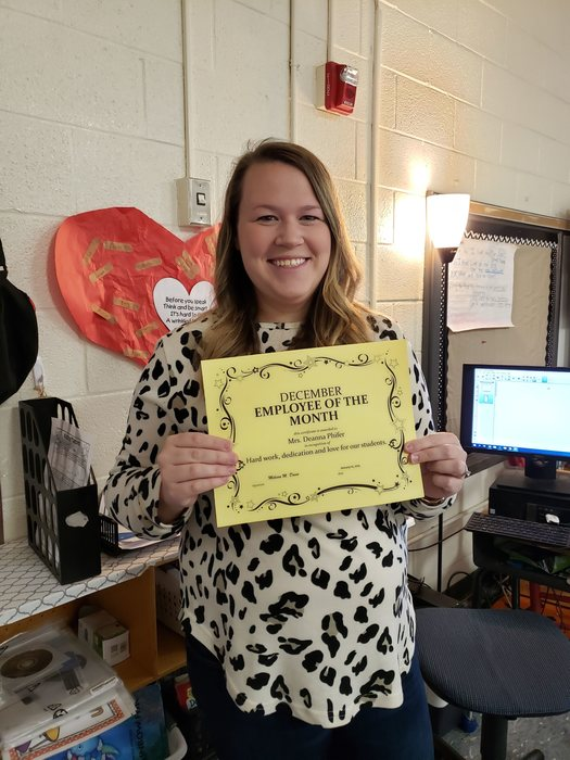 December Employee of the Month - Mrs. Deanna Phifer