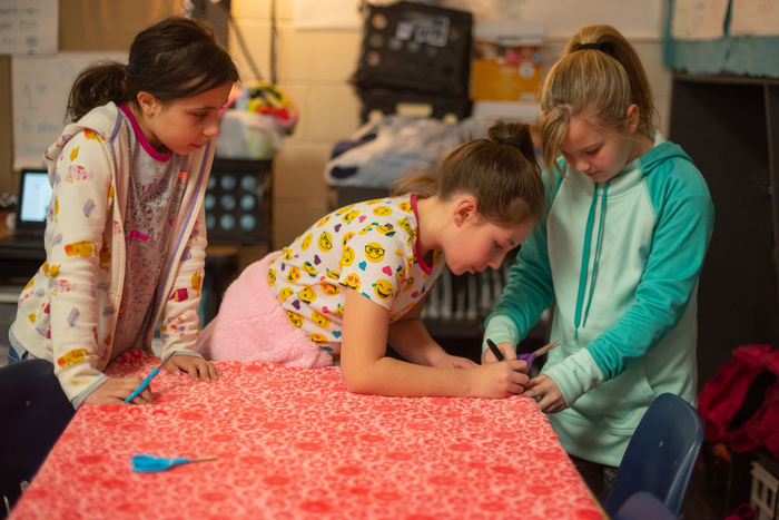 3rd Graders Create Fleece Blankets