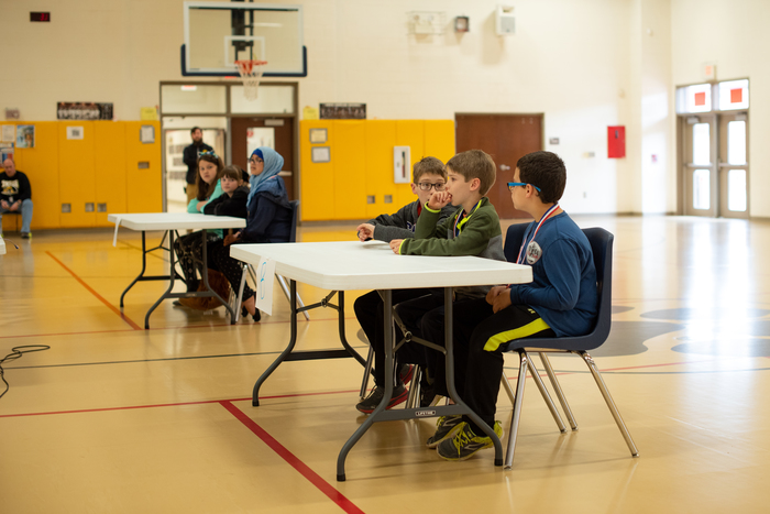 Battle of the Books competition at Flat Rock.