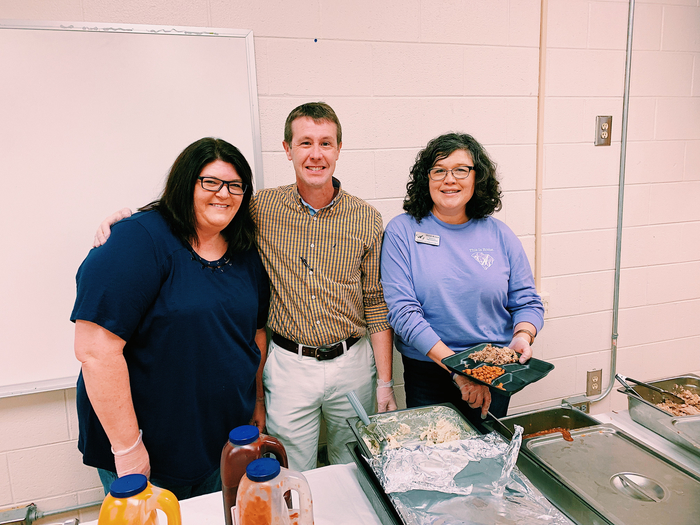 District office staff serve lunch!
