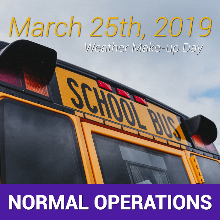 Normal Operations on March 25th!