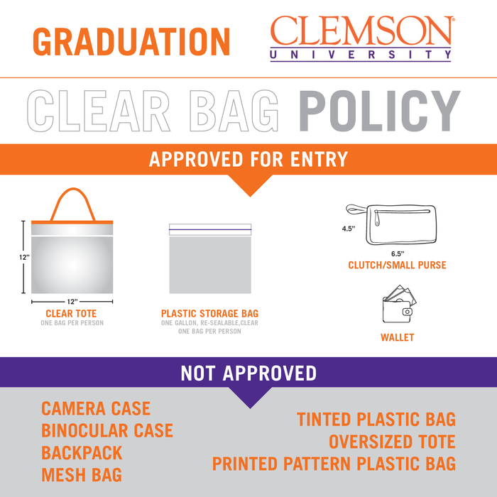 Clear Bag Policy for Graduation