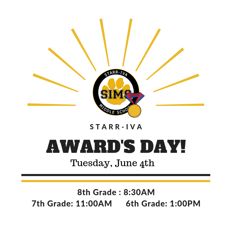 Award's Day, Tuesday, June 4th