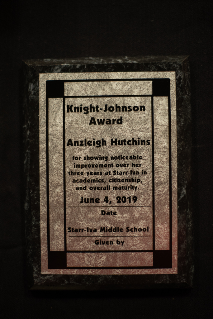 Knight Johnson Award Winner